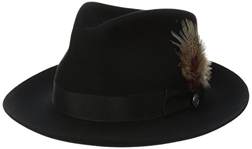 Stetson Men's Downs Royal Quality Fur Felt Hat, Black, 7.25