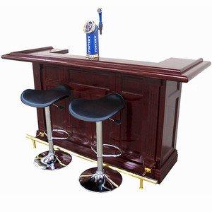 Charming Regal Mahogany Finish Pub Home Bar | Wooden Home Bar With A Mahogany Finish