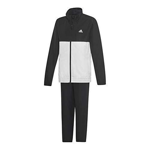 adidas Kids Boy's Club Track Suit (Little Kids/Big Kids) Black/White MD (10-12 Big Kids)