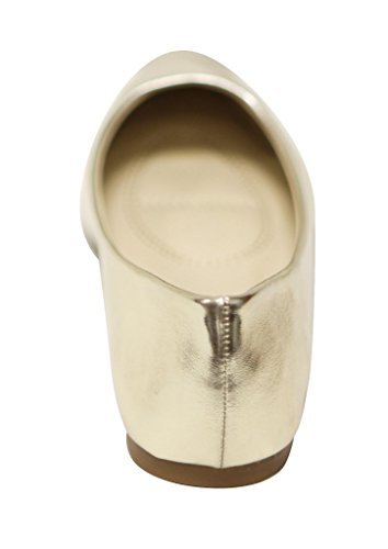 Classic Slip Toe 52 Ballet PU Angie Flats On Women's Pointy marie Gold Bella YnqAIwzx
