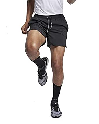 "Nike Men's Flex Stride 5""/13cm Running Shorts, Black/Reflective Silver, L"