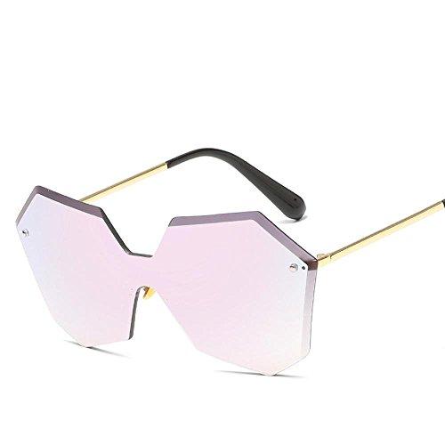 Aoligei L'Europe et aux États-Unis sans armature jointes lentilles lunettes de soleil fashion hommes et femmes le même t général lunettes de soleil Rend les lunettes de soleil C