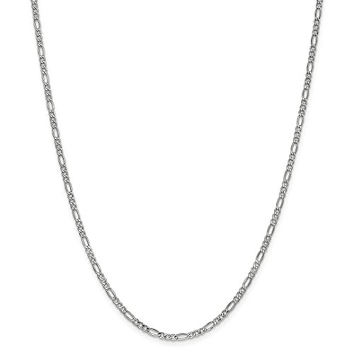 Gold Necklace Ice (ICE CARATS 14kt 2.5mm White Gold Link Figaro Chain Necklace 20 Inch Pendant Charm Fine Jewelry Ideal Gifts For Women Gift Set From Heart)