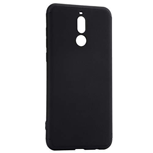 Case for Huawei Mate 10 Lite, MAOOY Full Body Protection 360 Degree Hard PC Plastic Armor Back Cover Ultra Slim Thin Anti-Scratch Resistant Protective Shell for Huawei Mate 10 Lite, Black