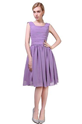 EnjoyBridal - Vestido - trapecio - para mujer Lavender