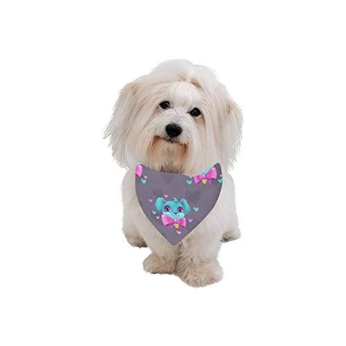 WUwuWU Dog Scarf Pendant Design Style Retro Noble Printing Dog Bandana Triangle Kerchief Bibs Accessories for Large Boy Girl Dogs Cats Pets Birthday Party Gift]()