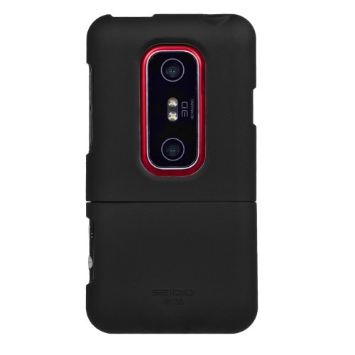 - Seidio SURFACE Case for HTC EVO 3D - 1 Pack - Case - Retail Packaging - Black