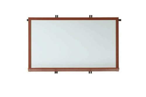 1 Walnut 12' Board (Architectural High Performance Magnetic Wall Mounted Whiteboard Surface Color: High Gloss White, Size: 1'6