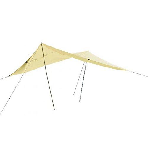 Sonnensegel mit Abspannleinen und Ösen, bietet Schutz vor Wind, Regen und Sonne, 400cmx500cm, sand