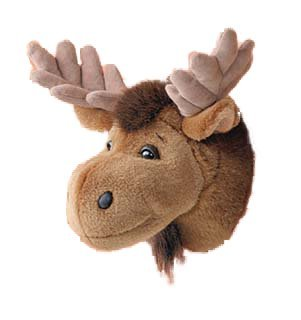 Price comparison product image Wall Mountable Moose Head - Plush Moose Stuffed Animal - 11""