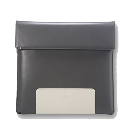 Afterten Two Tone Macbook Pro Retina 15 inch Ultrabook Leather Pouch (Carugetto Wheeled Laptop Case)