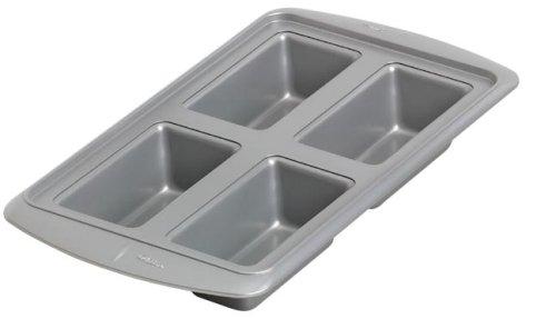 Wilton Avanti Everglide Metal-Safe Non-Stick 4 Cavity Mini Loaf Pan- Discontinued By Manufacturer
