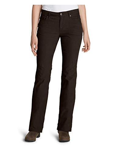Eddie Bauer Women's Curvy Bootcut Cord Pants, Cocoa Plus 24W