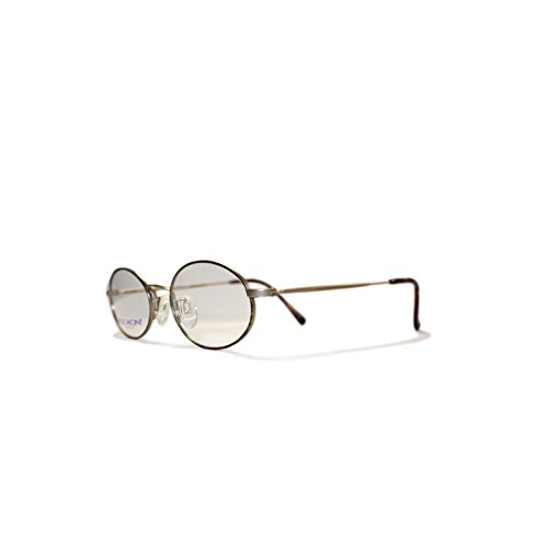 Flexon 43 TORBRN Gold Oval Eyeglasses Frame For Men and Women at ...