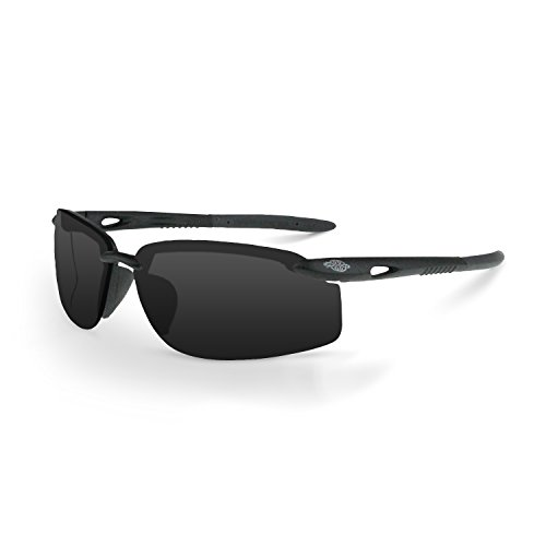 Crossfire ES5W Safety Glasses Smoke Lens with Black Frame