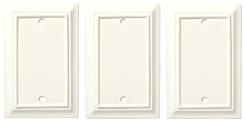 Liberty Hardware 126339 / 297606 Wood Architectural Single Blank Wall Plate - Set of 3 by Brainerd
