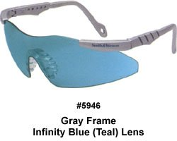 Smith & Wesson Teal Safety Glasses, Scratch-Resistant, Frameless