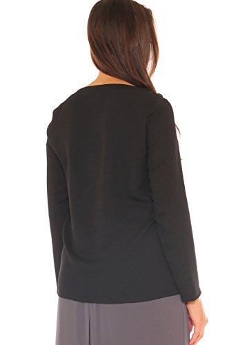 Giulia Para Galanti Mujer Jerséi Negro xXq8rXa