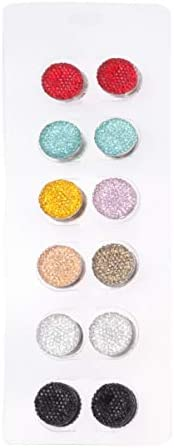 SUPVOX Magnetic Button Brooch Pin Rhinestone Scarf Brooch Shiny Hijab Pin for Ladies Women Girl 12pcs (Mixed C