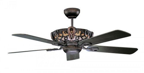 Concord 52AC5ORB Ceiling Fans with Tea Stained Glass Shades,
