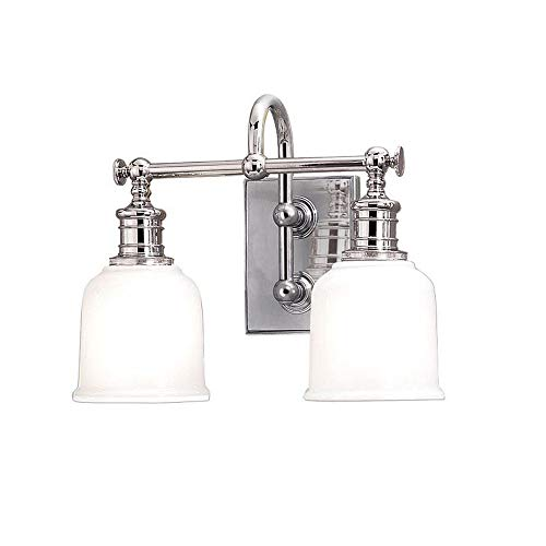 - Hudson Valley Lighting 1972-PC Two Light Bath Bracket from The Keswick Collection, 2, Polished Chrome