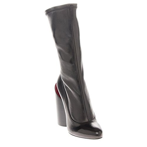 Givenchy Women's Oversized Cylindrical-Heel Boots Leather Black + Red EU 39 (US - Oversized Givenchy