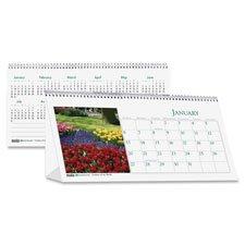 HOD3649 - House Of Doolittle Scenic Photos Desk Tent Monthly Calendar (Scenic Desk Calendar)