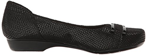 Snake Print West Black Flat Blanche CLARKS Women's Leather Oqn6HH