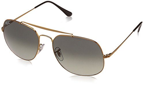Ray-Ban Men's Steel Man Square Sunglasses, Bronze, 57 - Ban Ray 57mm