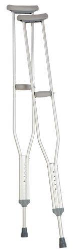 Carex Push Button Aluminum Crutch, Adult by Carex Health Brands ()