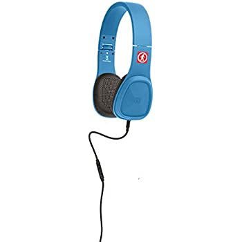 Outdoor Tech OT1450-EB Wired Audio Bajas Headphones, Electric Blue