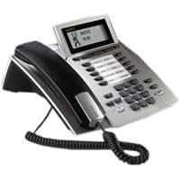 AGFEO ST 40 IP System Phone - Teléfono (Negro, 1000 entradas, Color blanco, 210 x 235 x 130 mm)