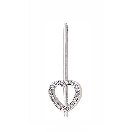 Or Blanc 9 ct Pendentifs Diamant , 0.19 Ct Diamant, GH-SI, 3.73 grammes.