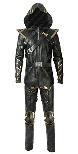 Mens Avengers Endgame Ronin Jeremy Renner Clint Barton Costume Cosplay PU Leather Jacket -