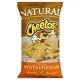 Frito Lay, Cheetos, Natural, White Cheddar Cheese Puffs, 8oz Bag (Pack of 3)