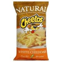 Frito Lay, Cheetos, Natural, White Cheddar Cheese Puffs, 8oz Bag (Pack of 3) by Frito Lay