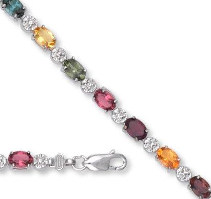 Petits Merveilles D'amour - 14 ct Or Blanc Mixed Tmaline Bracelet