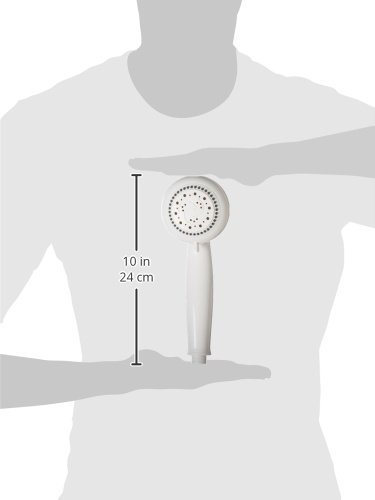 White 12040 Graham-Field Health Products Lumex Hand Held Shower Head 5 Spray Positions and 80 Inches Reinforced Hose LMX1342 Lumiscope