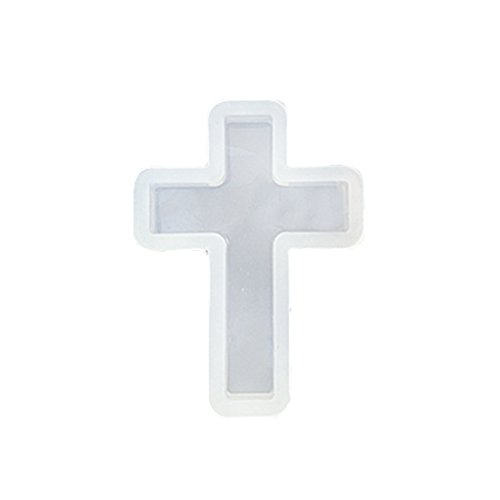 (M-Egal Cross Silicon Mold Mould For Epoxy Resin Jewelry Beads Pendant Making DIY Craft NO.4)