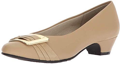 Soft Style by Hush Puppies Women's Pleats Be with You Pump, Starfish Kid/Patent, 06.5 W US