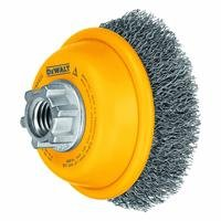 DEWALT DW4920 3-Inch by 5/8-Inch-11 Crimped Cup Brush/Carbon Steel .014-Inch by DEWALT