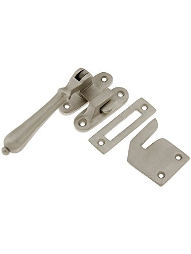 House of Antique Hardware R-09SE-0700488 Solid Brass Casement Window Latch with Pendant Handle in Satin Nickel