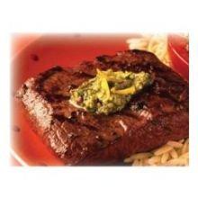 Seasoned Beef Flat Iron Steak, 6 Ounce -- 28 per case.