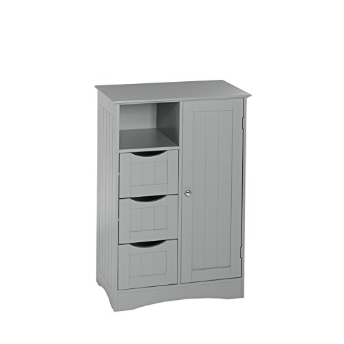 (RiverRidge Ashland Collection 1 Door, 3 Drawer Floor Cabinet, Gray)