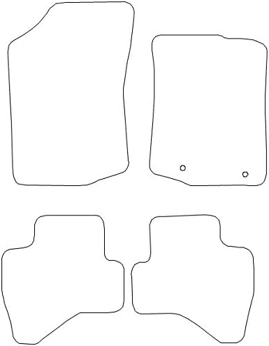 Black Trim 1582 Car Mats to fit 108 2014+ Black Heel Pad Black Carpet Heavy Duty Rectangle Heel Pad