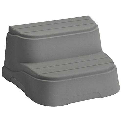 MRT SUPPLY 2 Step Non-Slip Rectangle Square Spa Hot Tub Steps, Taupe with Ebook