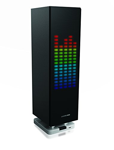Sharper Image SBT1003BK Bluetooth Speaker With Lights, Beat Responsive Sound System, Mini Tower, LED Light Show -  SOUTHERN TELECOM