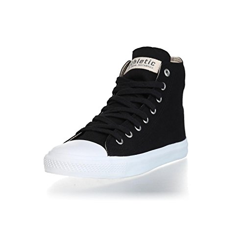 Ethletic Sneaker Vegan Hicut Collection 18 - Farbe Jet Black/White Aus Bio-Baumwolle