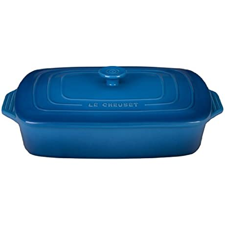 Le Creuset Stoneware Covered Rectangular Casserole 12 5 By 8 5 Inch Marseille