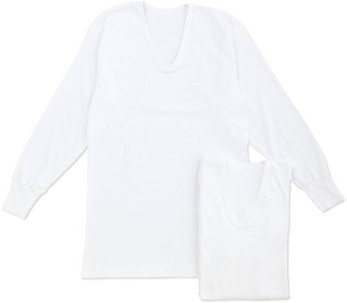 군제GUNZE 이너 셔츠 유연함(부드러움)인지(든가) 내의 면100% 항균 방취 가공 긴 소매U수 2매 셋트